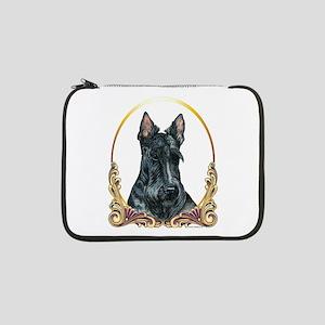"Scottish Terrier Holiday 13"" Laptop Sleeve"