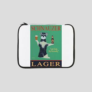 "Schnauzer Lager 13"" Laptop Sleeve"
