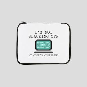 """I'm Not Slacking Off 13"""" Laptop Sleeve"""
