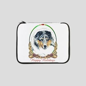 """Shetland Sheepdog Blue Merle Hap 13"""" Laptop Sleeve"""