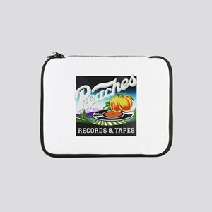 """Peaches Records and Tapes logo 13"""" Laptop Sleeve"""