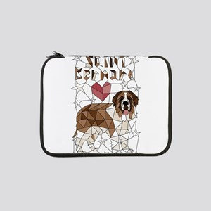 "Geometric Saint Bernard 13"" Laptop Sleeve"