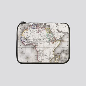 "Vintage Map of Africa (1852) 13"" Laptop Sleeve"
