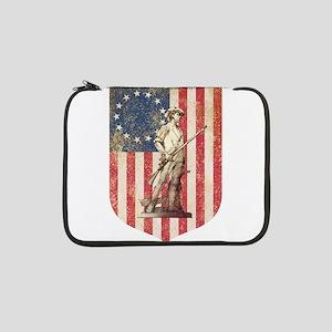 "Concord Minuteman, Shield 13"" Laptop Sleeve"