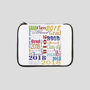"2018 Graduation Typography 13"" Laptop Sleeve"