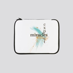 "Expect Miracles 13"" Laptop Sleeve"