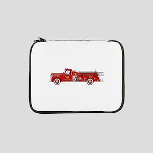 """Fire Truck - Vintage fire truck. 13"""" Laptop Sleeve"""
