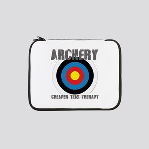 "Archery, Cheaper Than Therapy 13"" Laptop Sleeve"