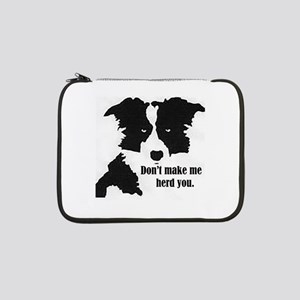 "Border Collie Art 13"" Laptop Sleeve"