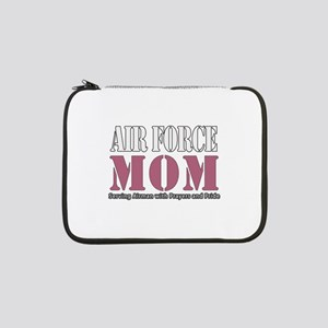 "Air Force Mom Pink 13"" Laptop Sleeve"