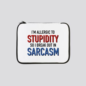 "I'm Allergic To Stupidity 13"" Laptop Sleeve"