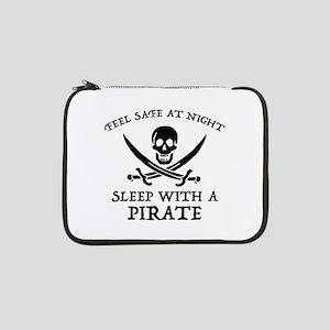 "Sleep With A Pirate 13"" Laptop Sleeve"