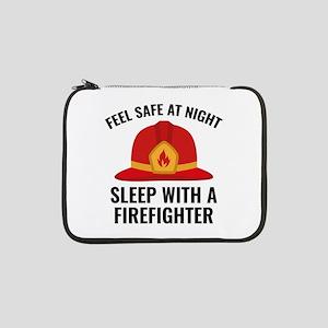 "Sleep With A Firefighter 13"" Laptop Sleeve"