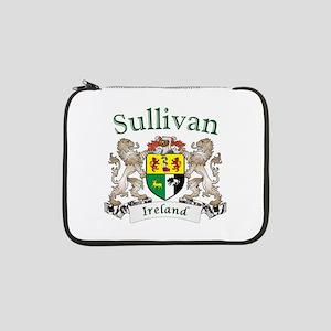 """Sullivan Irish Coat of Arms 13"""" Laptop Sleeve"""