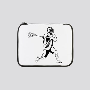 "Lacrosse Player Action 13"" Laptop Sleeve"