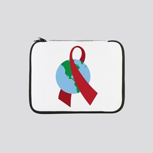 "World AIDS Ribbon 13"" Laptop Sleeve"