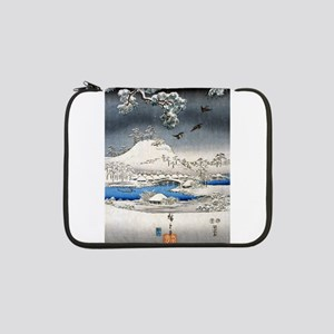 """Viewing the Snow (center) 13"""" Laptop Sleeve"""