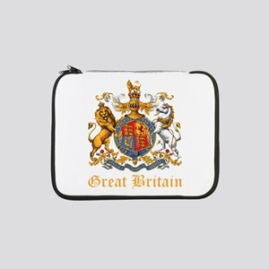 """Royal Coat Of Arms 13"""" Laptop Sleeve"""