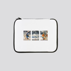 """Viewing the Snow Triptich 13"""" Laptop Sleeve"""