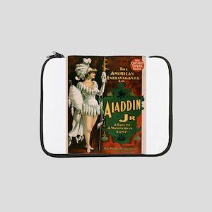 """Vintage poster - Aladdin Jr. 13"""" Laptop Sleeve"""