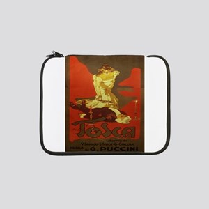 "Vintage poster - Tosca 13"" Laptop Sleeve"
