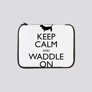 "Keep Calm and Waddle On 13"" Laptop Sleeve"