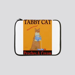 "Tabby Cat Peaches and Cream 13"" Laptop Sleeve"