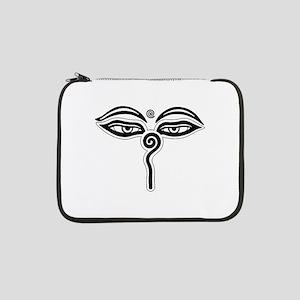 """Buddha eyes tibet rebirth Symbol 13"""" Laptop Sleeve"""