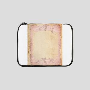 """Vintage Rose Frame 13"""" Laptop Sleeve"""