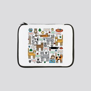 "What Cats Say 13"" Laptop Sleeve"