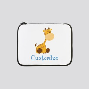 "Custom Baby Giraffe 13"" Laptop Sleeve"