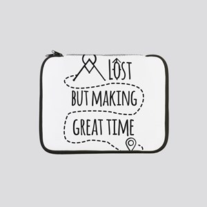 """Lost but making great time 13"""" Laptop Sleeve"""