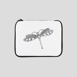 "Metallic Silver Dragonfly 13"" Laptop Sleeve"