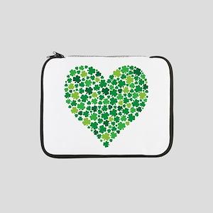 "Irish Shamrock Heart - 13"" Laptop Sleeve"