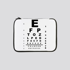 "Eye Test Chart 13"" Laptop Sleeve"