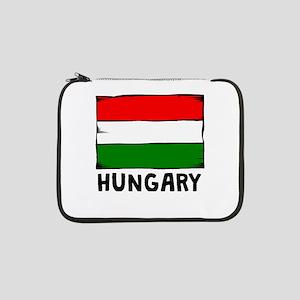 "Hungary Flag 13"" Laptop Sleeve"