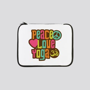 "Peace Love Yoga 13"" Laptop Sleeve"