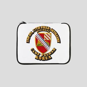 """2nd Bn 17th Field Artillery Regt 13"""" Laptop Sleeve"""