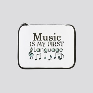 "Music is my first Language 13"" Laptop Sleeve"