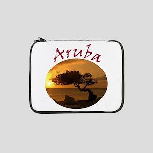 """Aruba-Sunsets Logo 13"""" Laptop Sleeve"""