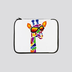 "Giraffe in Sunglasses 13"" Laptop Sleeve"