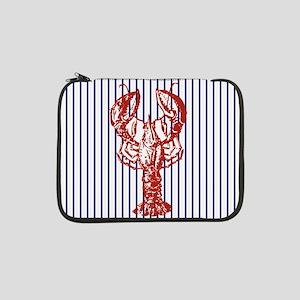 "nautical stripes vintage lobster 13"" Laptop Sleeve"