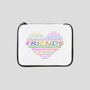 "FriendsTVQuotesHeart 13"" Laptop Sleeve"