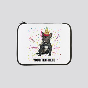 "Custom French Bulldog Birthday 13"" Laptop Sleeve"