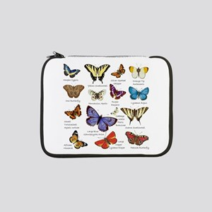 """Butterfly Illustrations full colored 13"""" Laptop Sl"""