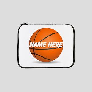"Personalized Basketball Ball 13"" Laptop Sleev"
