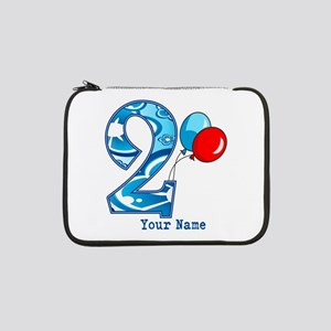 "2nd Birthday Personalized 13"" Laptop Sleeve"