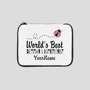 """World's Best Dietitian 13"""" Laptop Sleeve"""