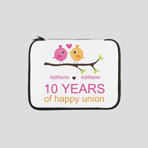 "10th Anniversary Personalized 13"" Laptop Sleeve"