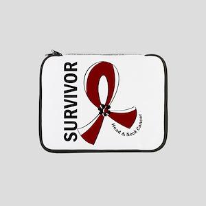 "Head Neck Cancer Survivor 12 13"" Laptop Sleeve"